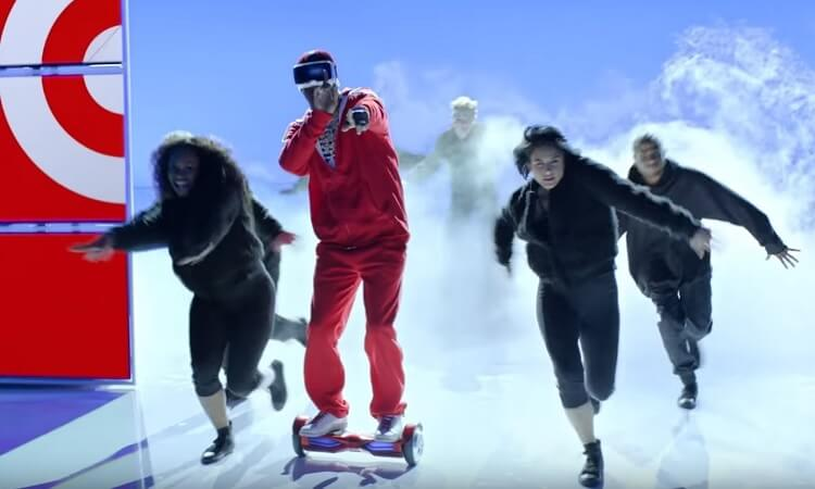 Lil Yacthy in the opening scene aboard the SWAGTRON T3 hoverboard