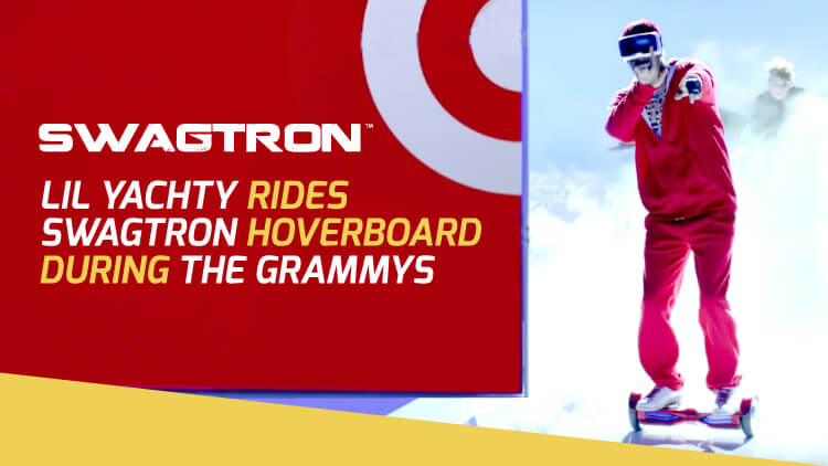 Lil Yachty Rides a SWAGTRON Hoverboard at the Grammys