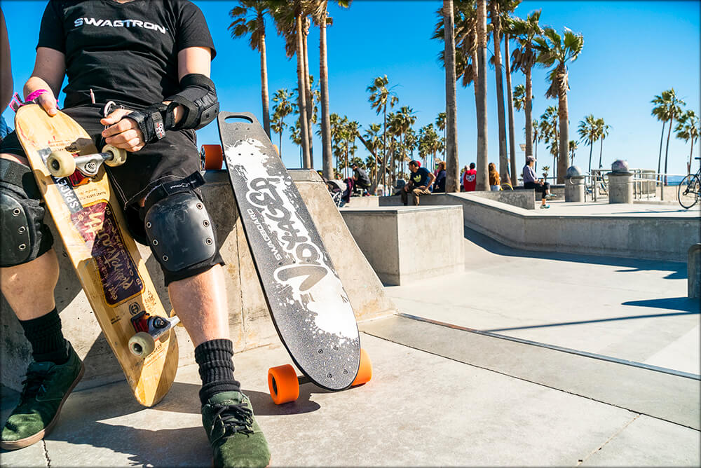At Venice Beach with the Voyager Longboard