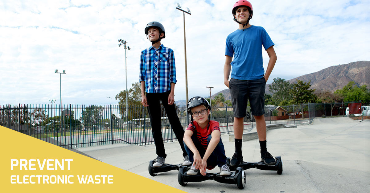Prevent electronic waste with self balancing scooters