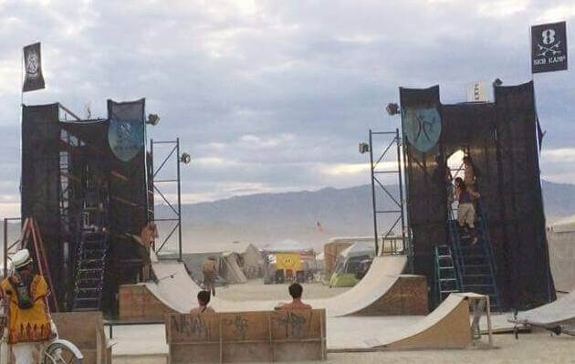 Skate Kastle & Burning Man Sk8 Kamp 2016