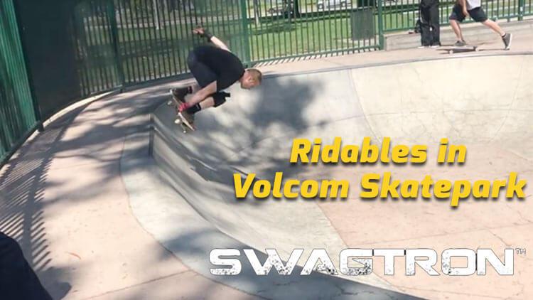 rideables in volcom skatepark