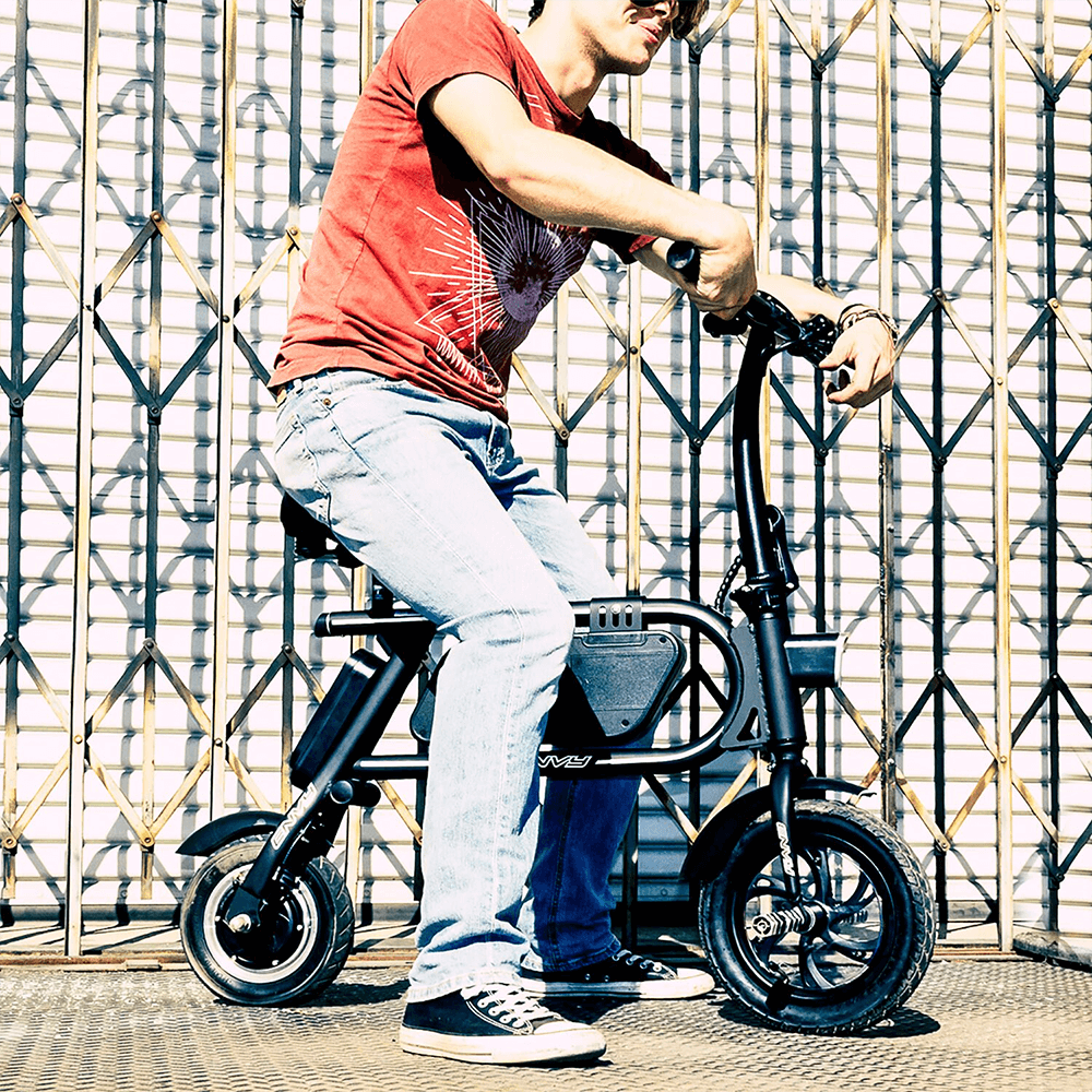 man riding his electric bike swagcycle envy