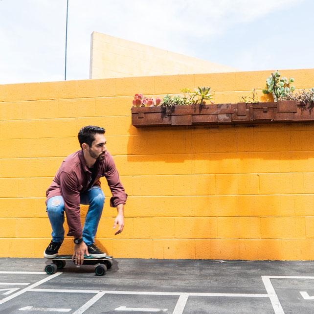 App Enabled Penny Board SWAGTRON Spectra Skateboard