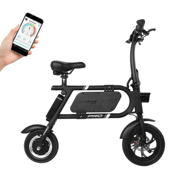 Pedal-less electric bike with smartphone application