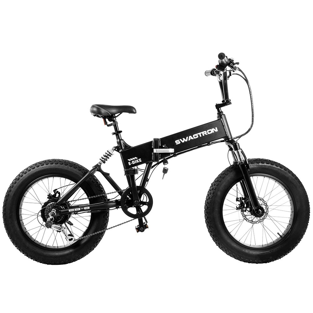 144341a7a13 Swagtron EB8 Foldable Fat Tire All-Terrain eBike — Swagtron