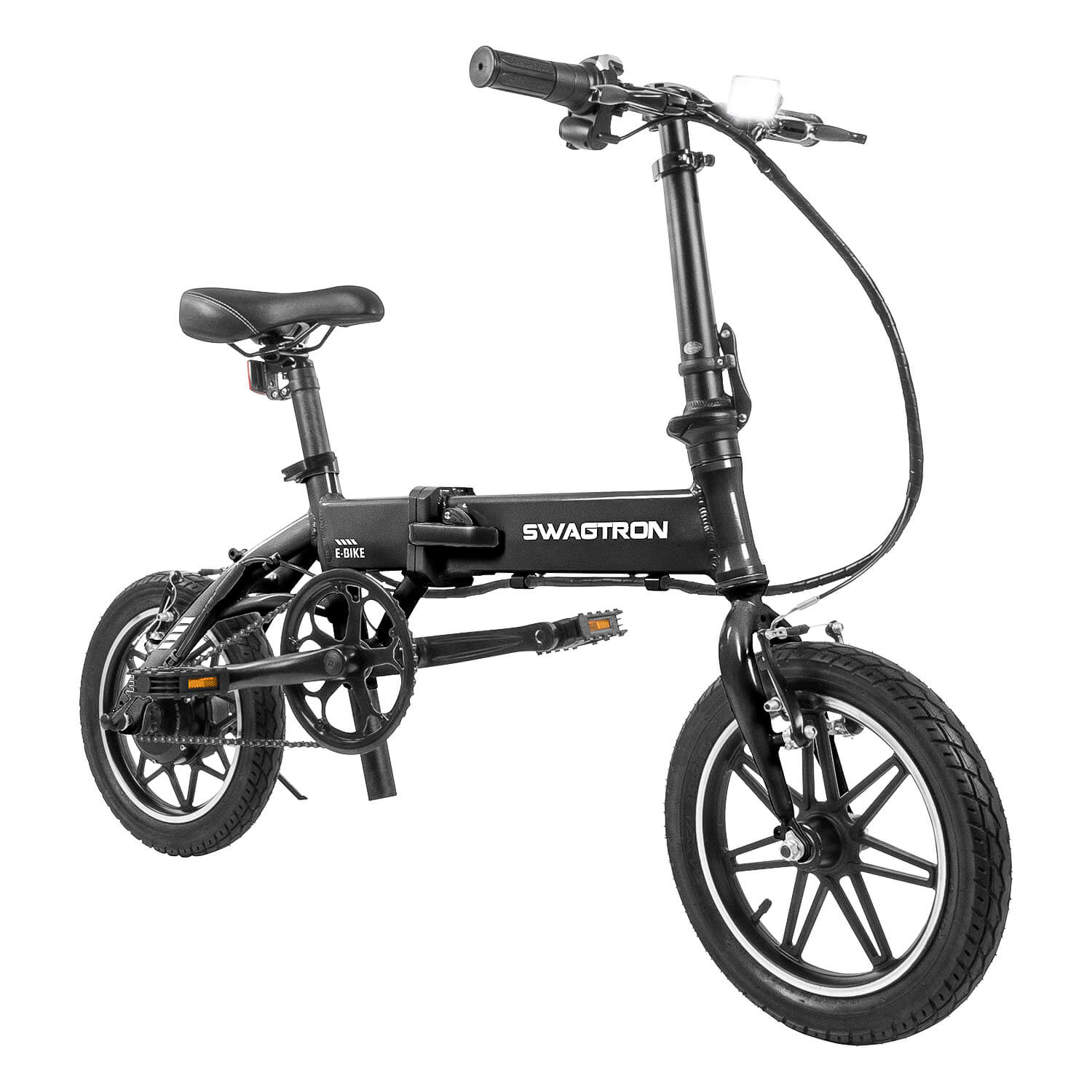 EB5 Foldable Electric Bike by Swagtron with Pedal Assist and Long Range Battery
