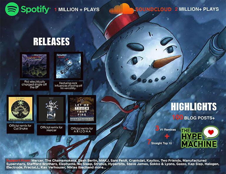 snowman flying through songs
