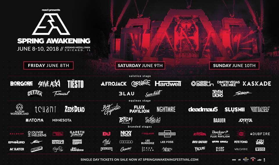 2018 Spring Awakening Music Festival Lineup