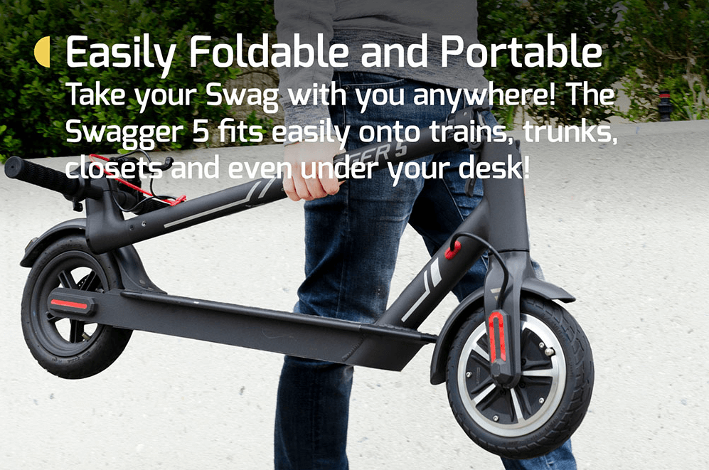 Swagger 5 electric scooter - portable and durable