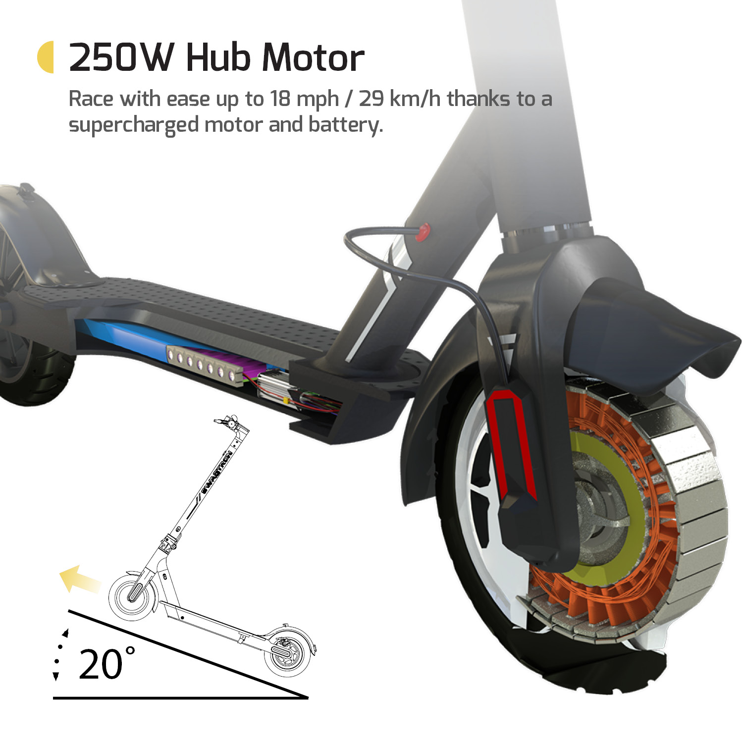 Swagger 5 Elite Electric Smart Scooter, Folding City Commuter