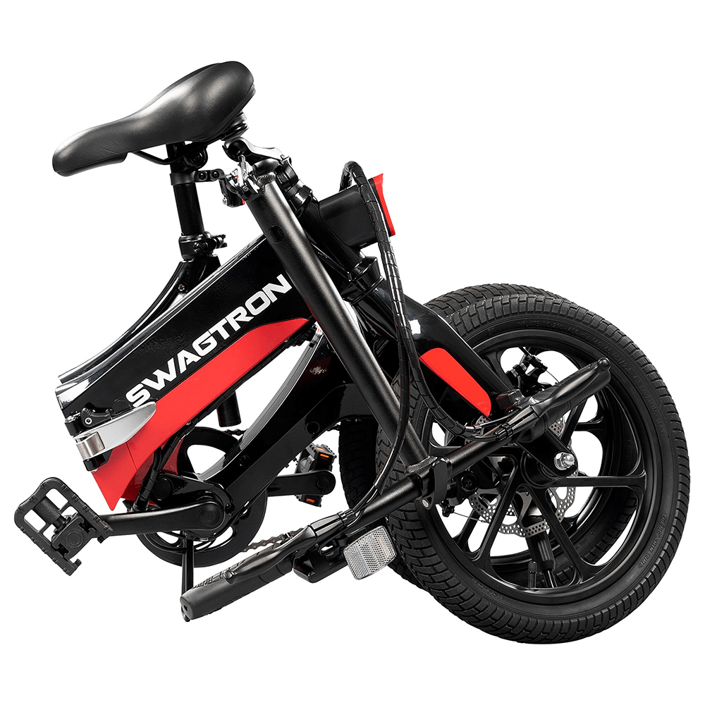 Folded Electric Bike from Swagtron - Folds in seconds