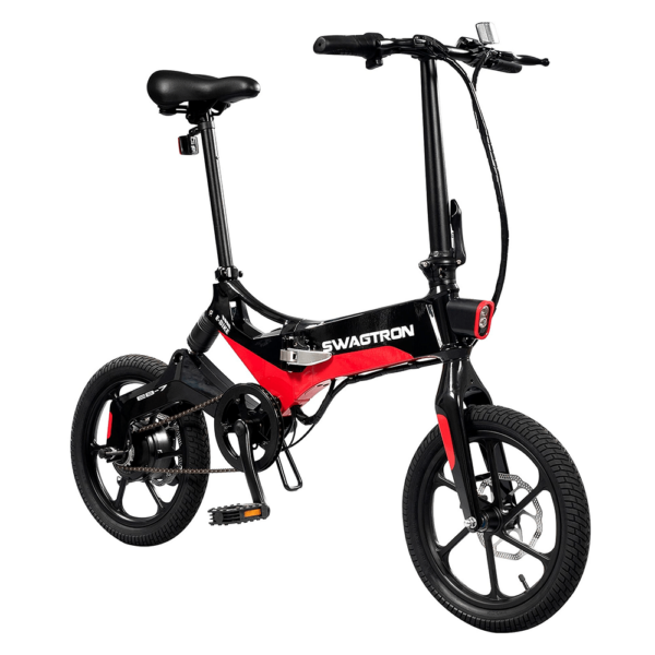 Swagtron EB7 Black and Red Electric Bike