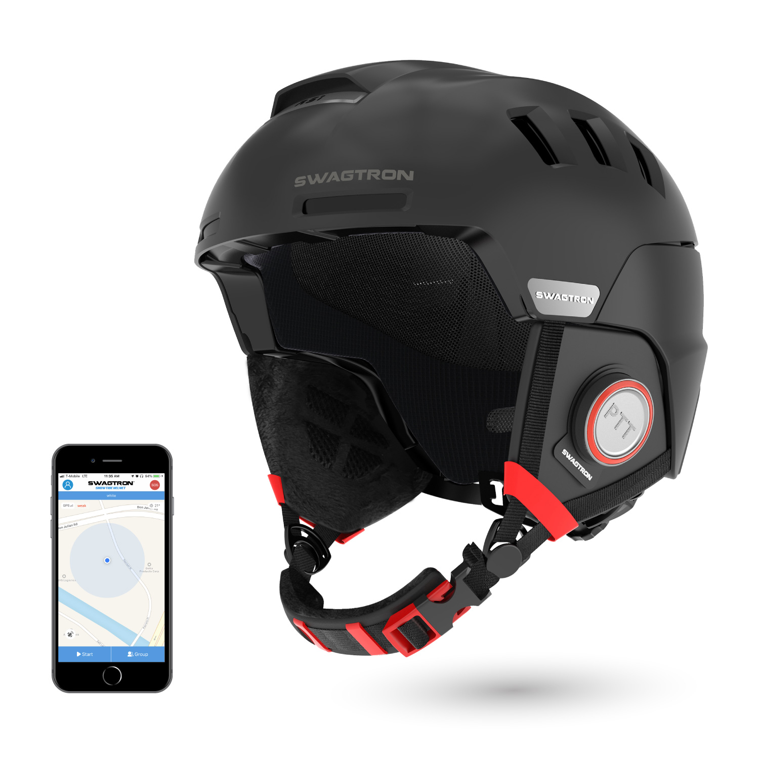 9528859e SNOWTIDE Bluetooth Ski and Snowboard Helmet with Speakers — Swagtron