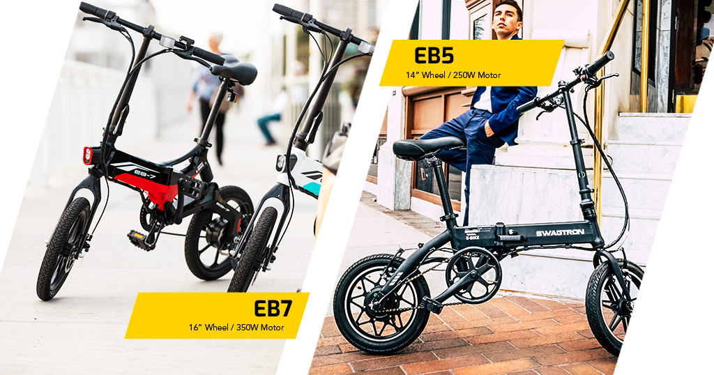 SWAGTRON EB5 and EB7 electric bicycles