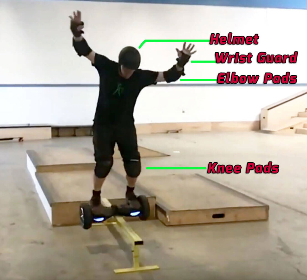 Hoverboard railslide