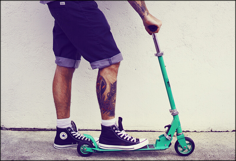 Push scooter pic in SWAGTRON blog