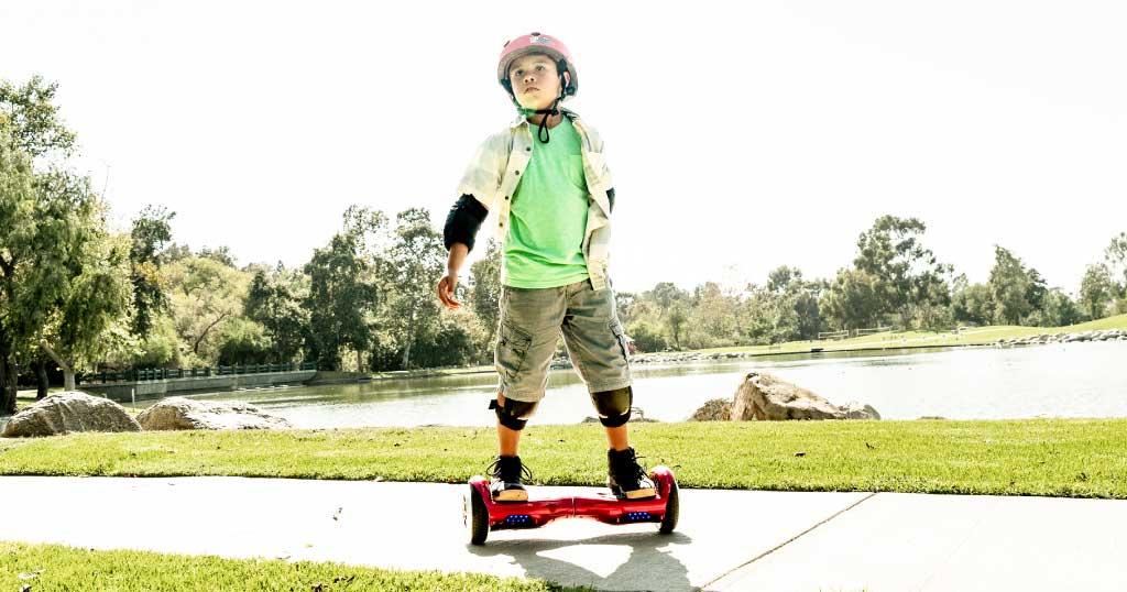 Kid riding a Swagboard Twist T881