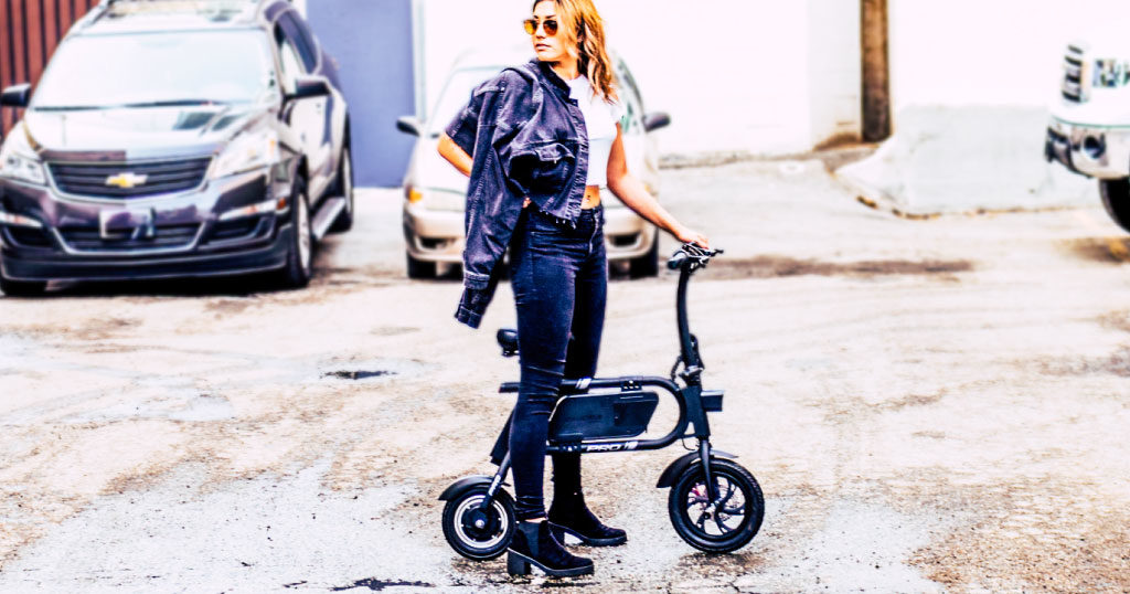 Electric Rideables Holiday Roundup - Girl on a Swagcycle Pro