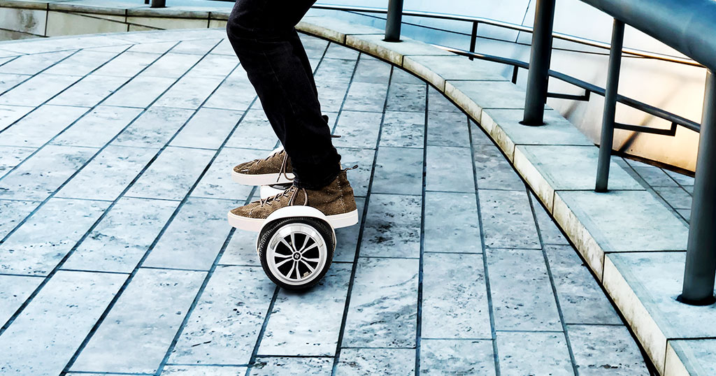 Hoverboard Holiday Guide - Close-up of a guy riding a T1