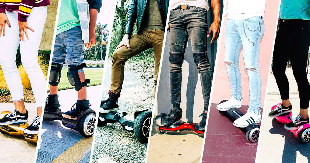 A fleet of Swagtron hoverboards