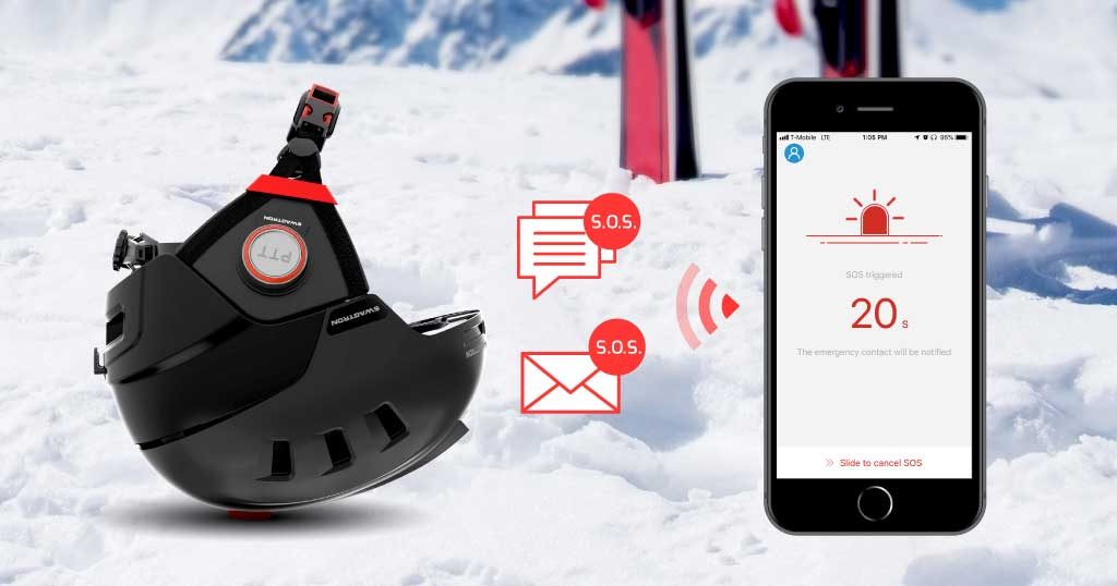 Snowtide App with the S.O.S. function, among other advanced features