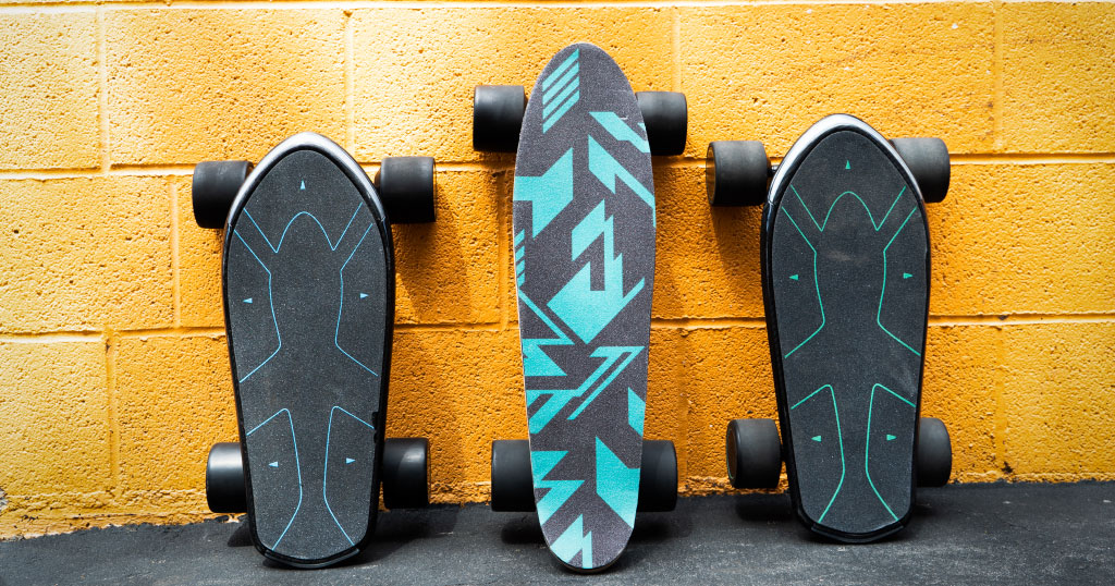 Fleet of Spectra A.I.-powered e-skateboards