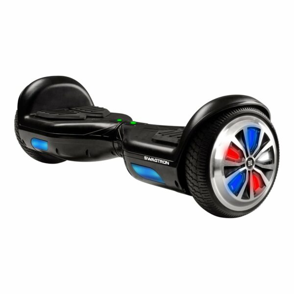 Swagboard hoverboard for kids with LED lights on the wheels