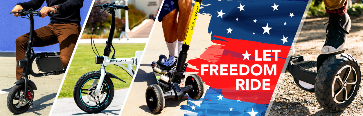 SWAGTRON Electric Bikes and Scooters during Independence Day 2019