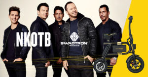 New Kids on the Block together. Watch as NKOTB ride Swagcycles in their latest video.