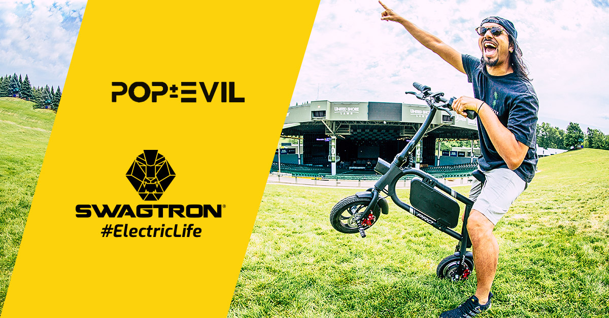 Pop Evil lead singer, Leigh Kakaty, stays electrified with SWAGTRON