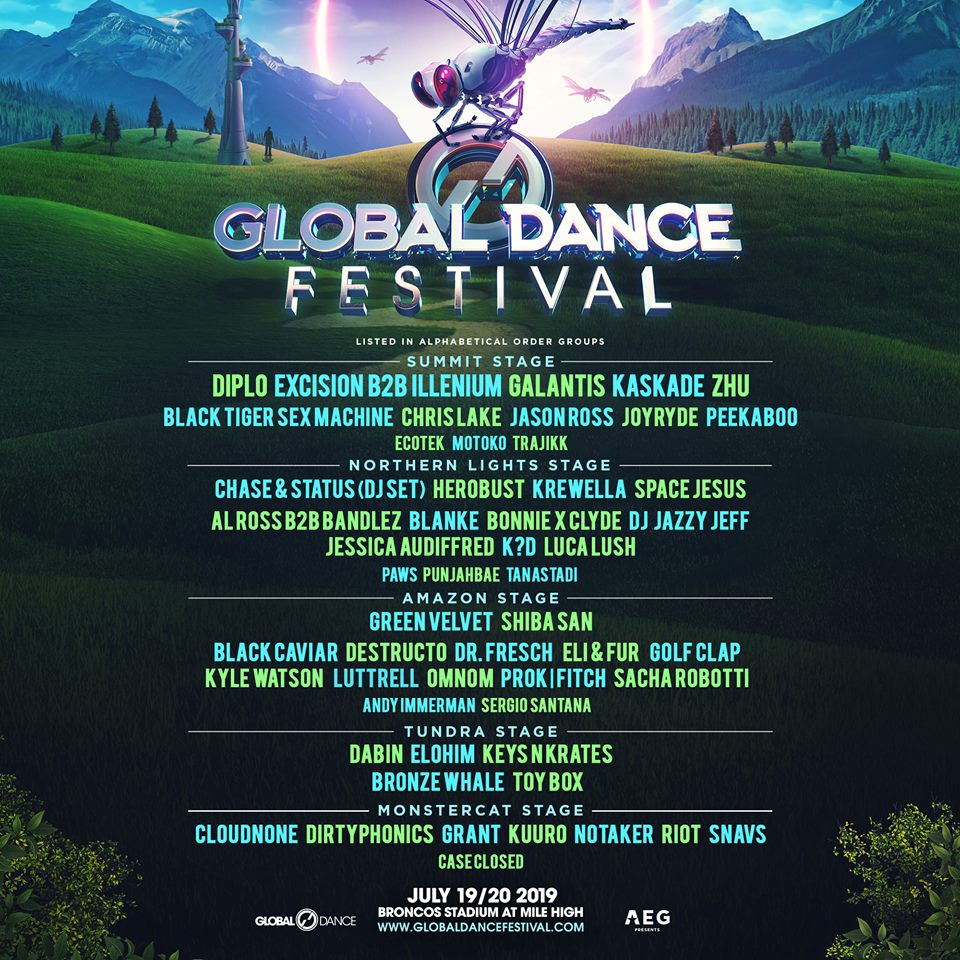 Official 2019 Global Dance Festival Line-Up