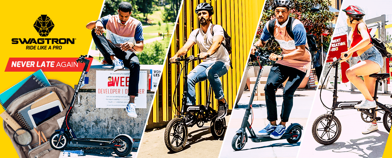 SWAGTRON Back to School sale on Electric Scooters and Electric Bikes