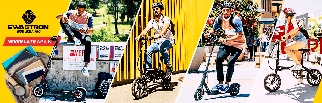 SWAGTRON Back to School sale on your favorite electric scooters and electric bikes for students and teachers