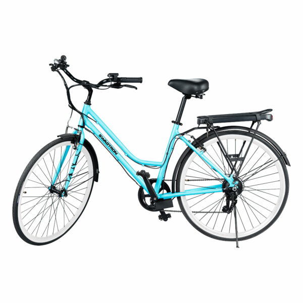 SWAGTRON EB9 Step-Through Electric City Bike w/ Shimano 7-Speed & Removable Battery