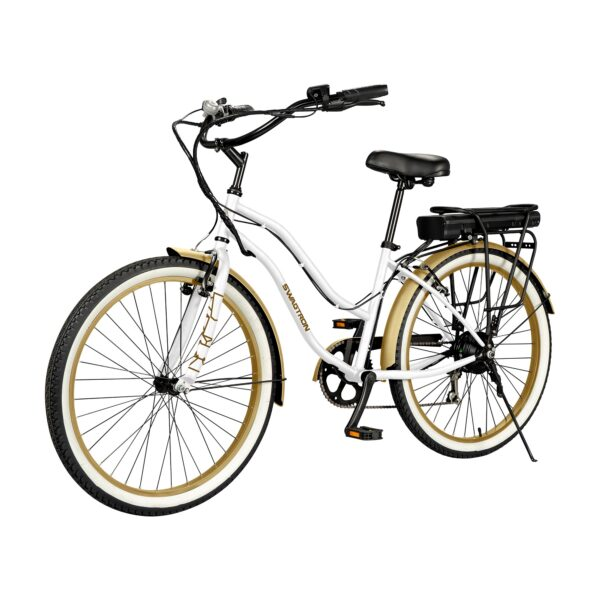 SWAGTRON EB10 Step-Through Cruiser eBike with Pure Comfort Design & 7SPD Shimano