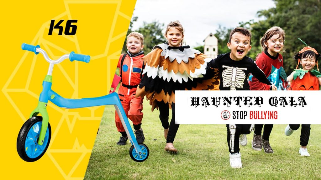 Swagtron donates K2 and K6 toddler scooters for Fox & Trove's Haunted Gala anti-bullying fundraiser.