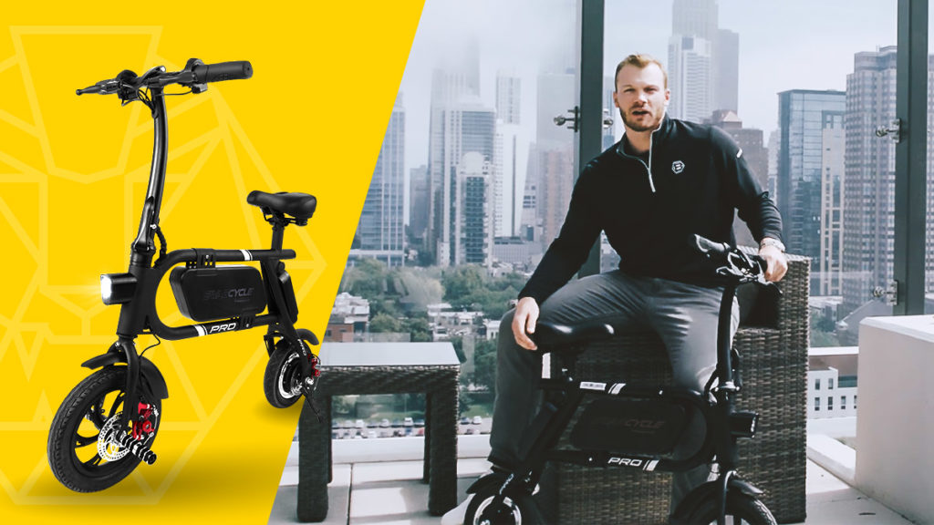 Chicago Cubs' Ian Happ and his Swagcycle Pro
