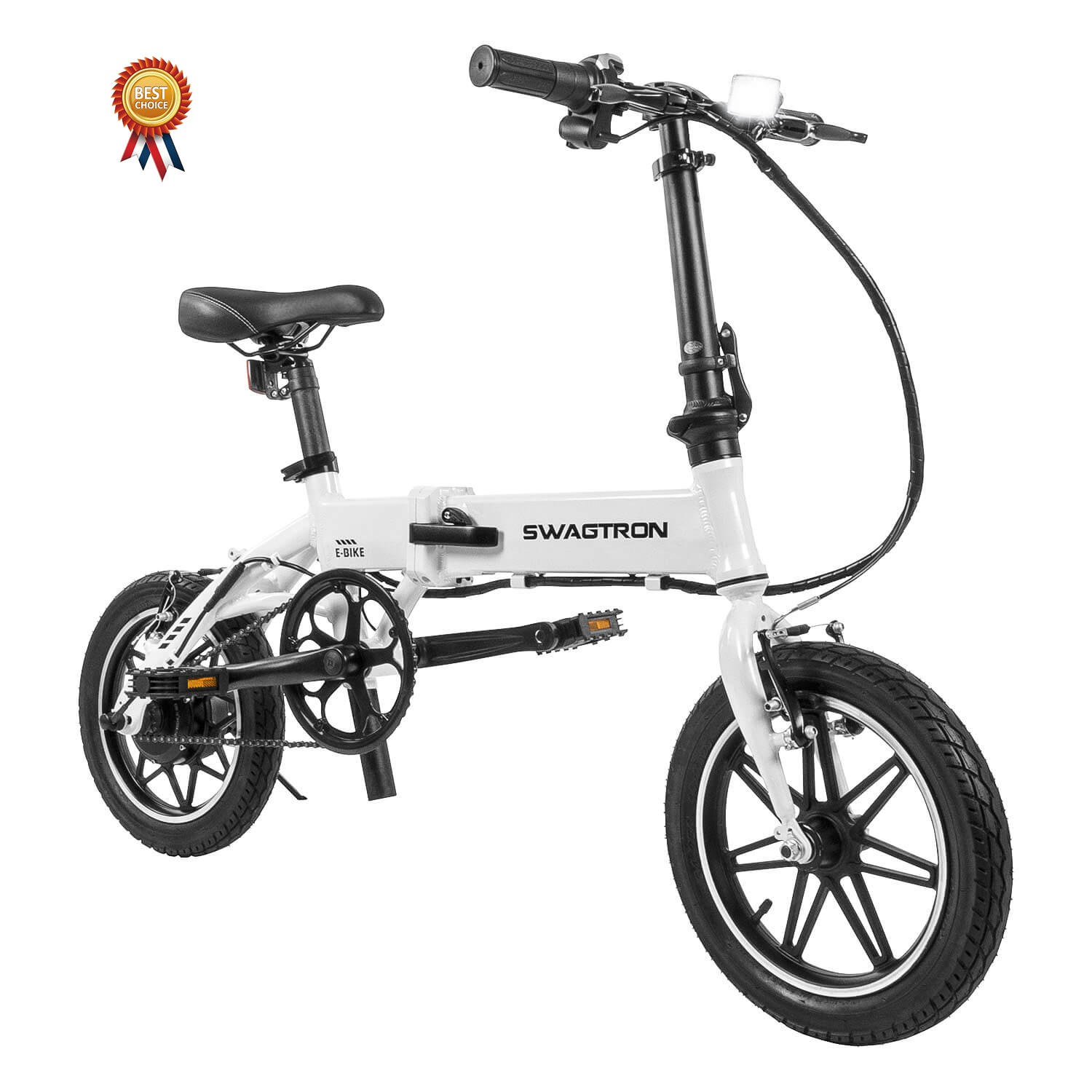 SWAGTRON EB5 Pro City & Campus Folding eBike, Pedal-To-Go