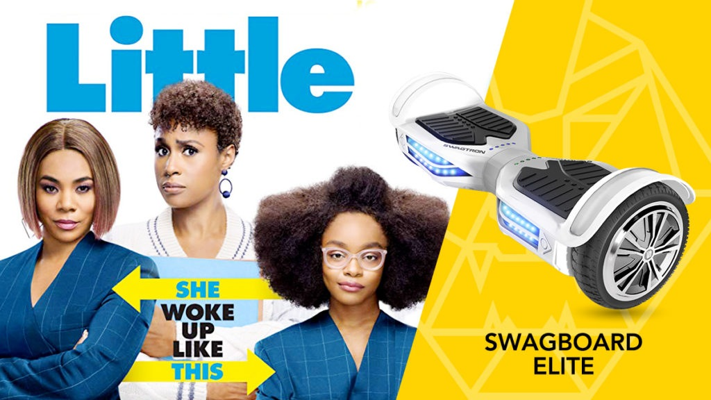 Cast of Universal Pictures' LITTLE and the Swagboard T380 Elite hoverboard