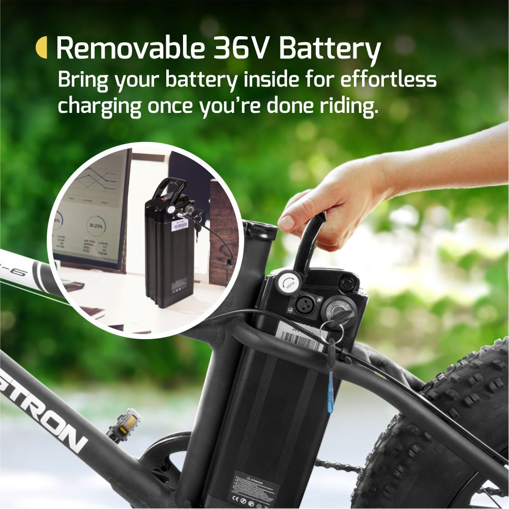 Swagtron EB6 Electric Bike Replacement Battery.