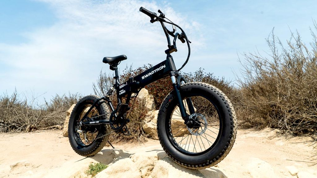 The EB8 All-Terrain eBike outside on the trails.