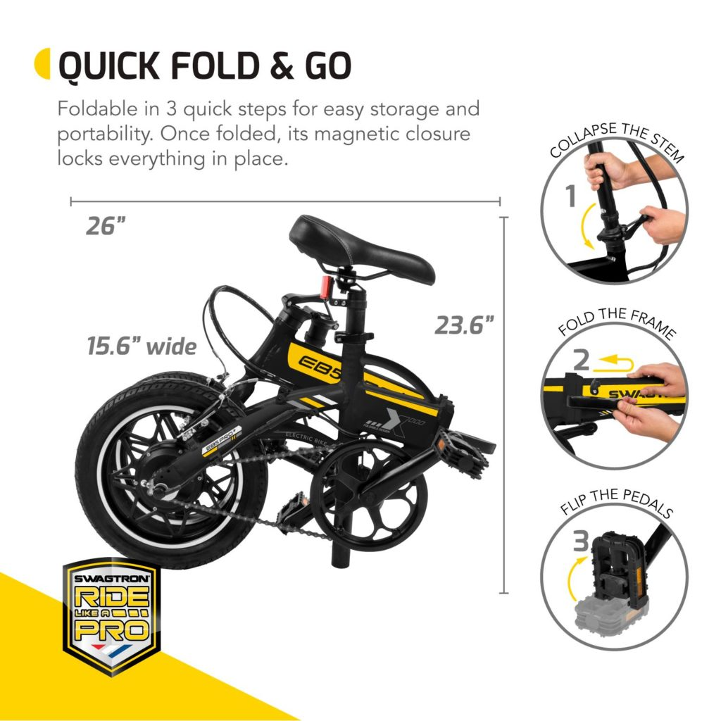 EB5 Pro Plus folded in 3 easy steps