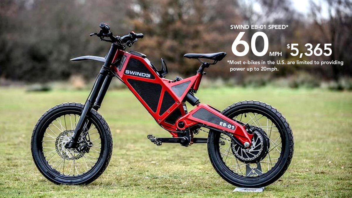 The SWIND EB-01 Electric Motorbike.