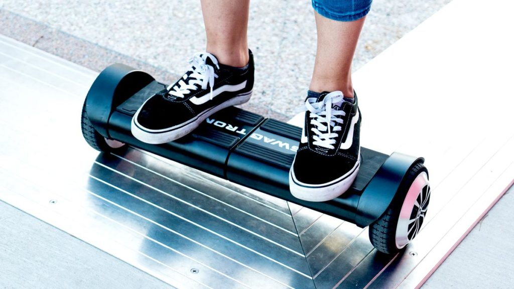 The lithium-free swagBOARD Duro hoverboard.