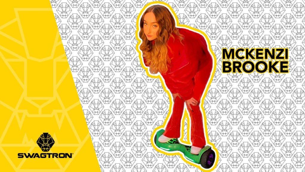 McKenzi Brooke on a swagBOARD Warrior hoverboard.