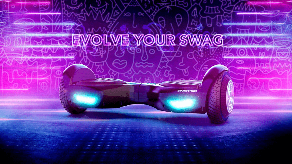 The swagBOARD T580 Twist Hoverboard with EXCLUSIVE LiFePo™ superior battery tech.
