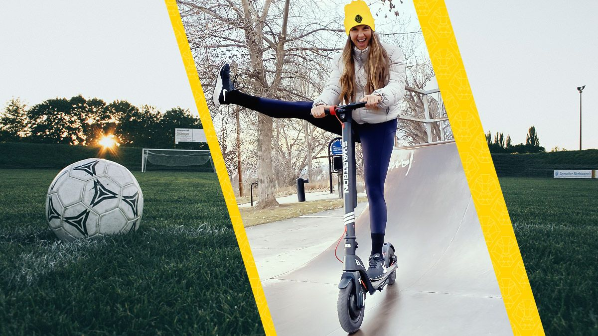 Brittany Wilson on her Swagger 7T electric scooter