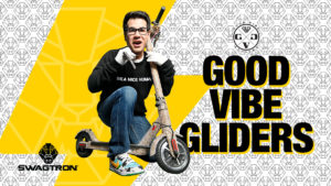 Gabe from GVG posing with his bejeweled EB7 eBike.
