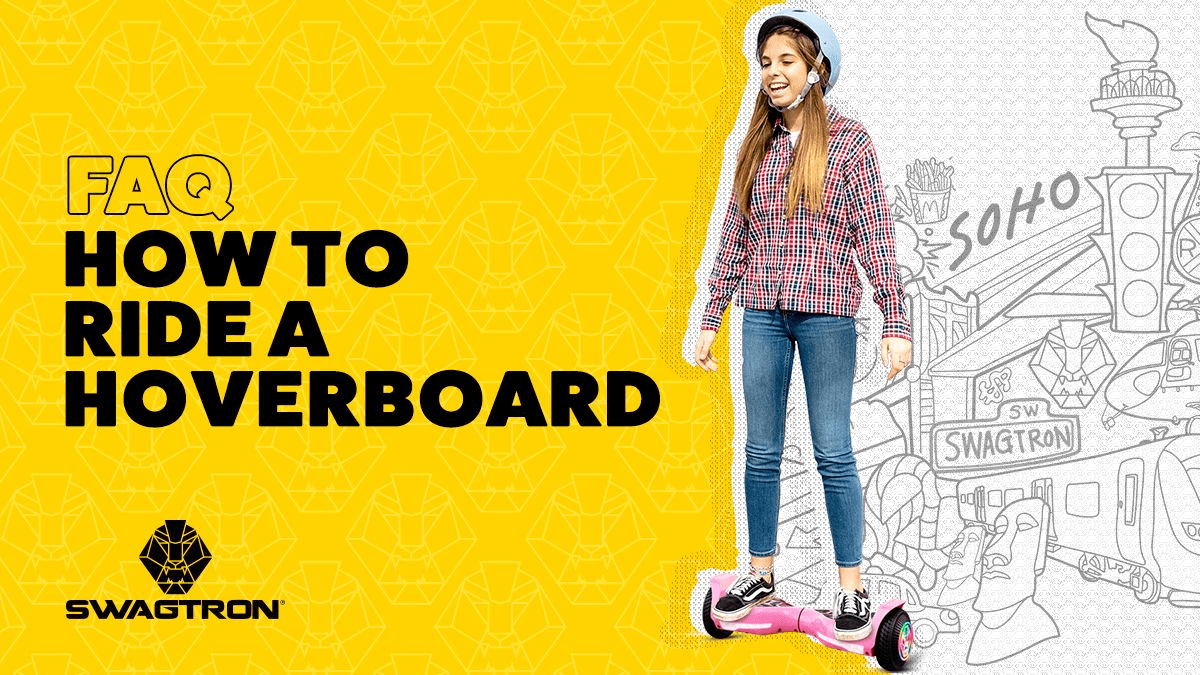 Young woman riding on a swagBOARD T580 Twist.